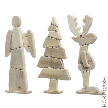 FIG NOEL EN BOIS D35CM NATUREL